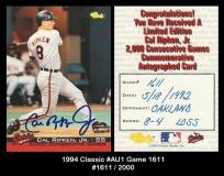 1994 Classic #AU1 Game 1611