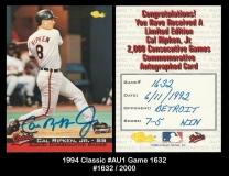 1994 Classic #AU1 Game 1632