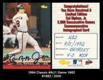 1994 Classic #AU1 Game 1682