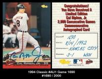 1994 Classic #AU1 Game 1690