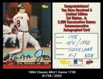 1994 Classic #AU1 Game 1736