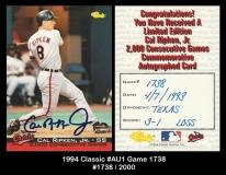 1994 Classic #AU1 Game 1738