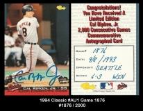 1994 Classic #AU1 Game 1876