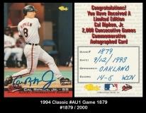 1994 Classic #AU1 Game 1879