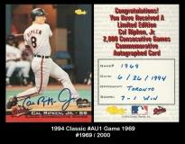 1994 Classic #AU1 Game 1969