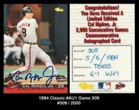 1994 Classic #AU1 Game 309