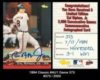 1994 Classic #AU1 Game 373