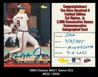 1994 Classic #AU1 Game 522