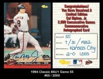 1994 Classic #AU1 Game 55