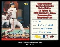 1994 Classic #AU1 Game 8