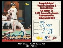 1994 Classic #AU1 Game 850