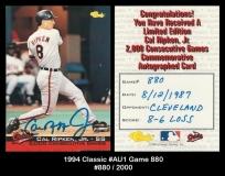 1994 Classic #AU1 Game 880