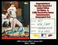 1994 Classic #AU1 Game 947