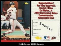 1994 Classic #AU1 Sample