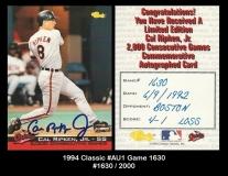 1994 Classic #Au1 Game 1630