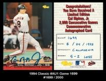 1994 Classic #Au1 Game 1699