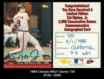 1994 Classic #Au1 Game 735