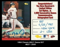 1994 Classic #Au1 Game 837