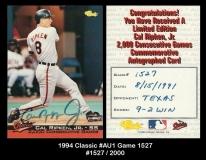 1994 Classic #Au1 game 1527
