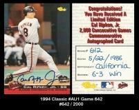 1994 Classic #Au1 game 642