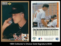 1994 Collectors Choice Gold Signature #240