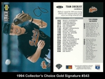 1994 Collectors Choice Gold Signature #343