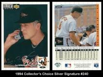 1994 Collectors Choice Silver Signature #240