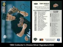 1994 Collectors Choice Silver Signature #343