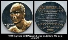 1994 Highland Mint Magnum Series Medallions #10 Gold
