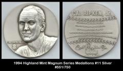 1994 Highland Mint Magnum Series Medallions #11 Silver