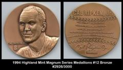1994 Highland Mint Magnum Series Medallions #12 Bronze
