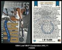 1994 Leaf MVP Contenders #AL11