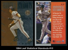 1994 Leaf Stastical Standouts #10