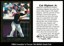 1994 Investors Focus '94 #NNO Gold Foil