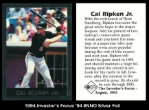 1994 Investors Focus '94 #NNO Silver Foil