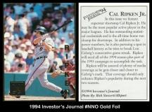 1994 Investors Journal #NNO Gold Foil