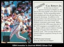 1994 Investors Journal #NNO Silver Foil