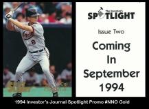 1994 Investors Journal Spotlight Promo #NNO Gold