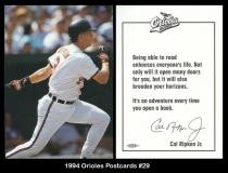 1994 Orioles Postcards #29