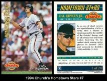 1994 Churchs Hometown Stars #7