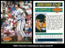 1994 Churchs Hometown Stars Gold #7