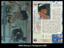 1994 Dennys Holograms #20