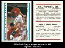 1994 Red Foleys Magazine Inserts #22