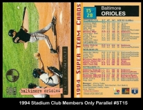 1994 Stadium Club Members Only Parallel #ST15