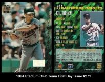 1994 Stadium Club Team First Day Issue #271