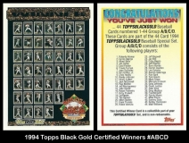 1994 Topps Black Gold Certified Winners #ABCD