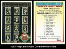 1994 Topps Black Gold Certified Winners #B