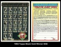 1994 Topps Black Gold Winner #AB