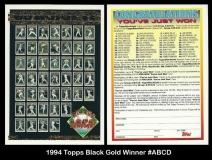 1994 Topps Black Gold Winner #ABCD