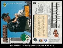 1994 Upper Deck Electric Diamond #281 HFA